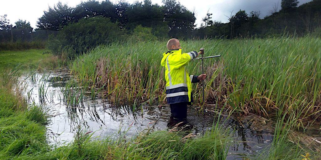 Ooprensning og uddybning af regnvandsbassin, sø og vandløb