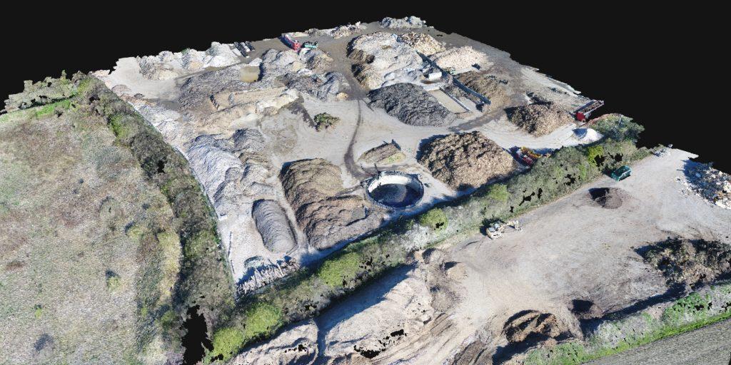 Jordvolumen og masseberegning - opmåling med drone